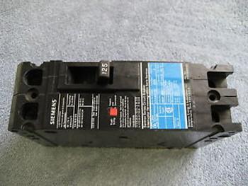 WARRANTY Siemens HED43B125 3 POLE 125 AMP 480 Circuit Breaker