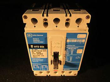 CUTLER HAMMER HFD3100 100A, 3P, 600V, 250 VDC, 65 kAIC, Type HFD CB