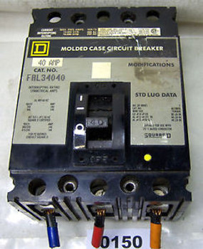 (0150) Square D Molded Case Circuit Breaker FAL34040 40A 3P