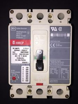 (1) Hmcp50K2 Cutler Hammer Three Phase 50 Amp Circuit Breaker 90