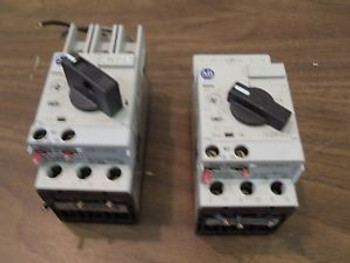 (2) Allen Bradley Circuit Breaker Motor Overload 140M-C2E-C10 Ser B Adjustable