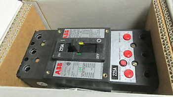 NIB . ABB Circuit Breaker 225A, 600V Cat FHB63225L With 225A Mag.Trip .. VY-503