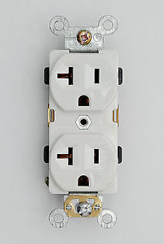 100 Industrial Grade Heavy Duty Receptacles 20A /125V Outlet 5-20R Plug 62080-W