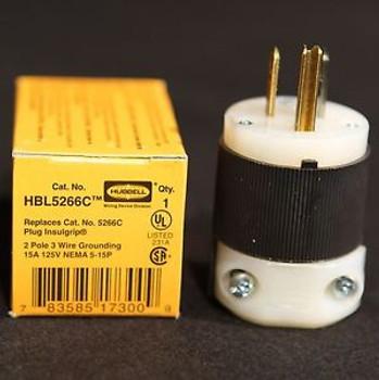 10- New HBL5266C 15A 125V PBG EDISON PLUG