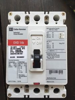 (1) Ehd3100L Eaton Cutler Hammer 14K Circuit Breaker