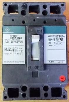 Circuit Breaker General Electric Hi Break THED136040 40 Amp 3 Pole 600 VAC