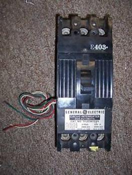GE TFJ TFJ236Y225 225 amp TRIP 3 pole 600v AUX Breaker