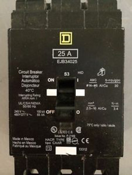 (1) Ejb34025 Square D Three Phase Circuit Breaker