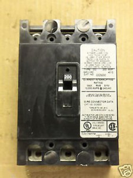 Cutler Hammer Eaton CC3200 3-pole 200 amp circuit breaker