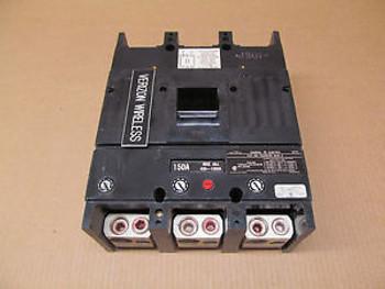 1 GE TJJ TJJ436150 150 AMP 3 POLE 600 VAC CIRCUIT BREAKER