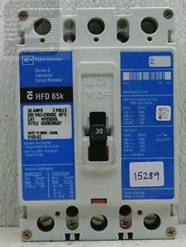 Cutler-Hammer HFD3030L Industrial Circuit Breaker 600V 30A 3P (Used)