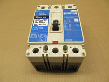 1 CUTLER HAMMER HFD HFD3125 125 AMP 3 POLE 600 VAC CIRCUIT BREAKER