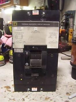 SQUARE D 300 AMP CIRCUIT BREAKER 600 VAC 3 POLE LAP36300MB