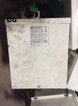 Square D 5S1F 5 KVA General Purpose Transformer 480/240-240/120 VAC PH 1