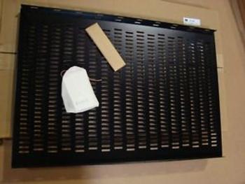 BUD INDUSTRIES VENTILATED SHELF SH-2386, BLACK, 18 X 26.5