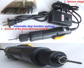 AC 110V or AC 220V Electric Screwdriver Screw Automatically stop Tool + 12 Plug