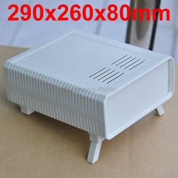 HQ Instrumentation ABS Project Enclosure Box Case, White, 290x260x80mm.