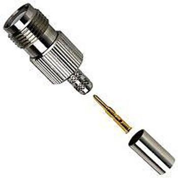 AMPHENOL CONNEX 122122RP RF/COAXIAL, TNC RP JACK, STRAIGHT, CRIMP (100 pieces)