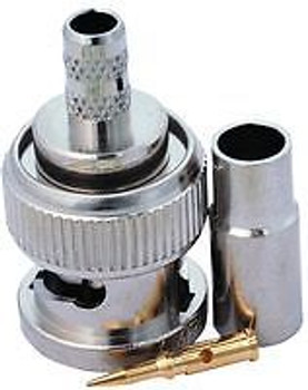 MULTICOMP SPC20100 RF/COAXIAL, BNC PLUG, STR, 50 OHM, CRIMP (100 pieces)