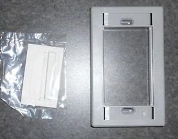 Leviton Grey Media Plates 1 Gang 41290-Smg