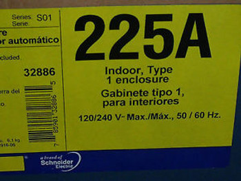 #1026 QOM22225NRB Circuit Breaker Enclosure  New  surplus 225 AMP 120/240 volt