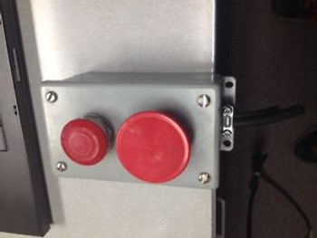 2 pos push button,  block and enclosure     hoffman and allen-bradley
