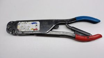 AMP Red Blue T-Head 59250 Crimper  PIDG Commercial Aircraft Aerospace Aviation A
