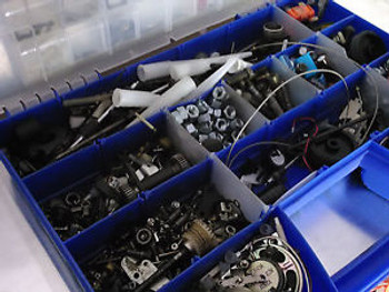 PROJECT PROTOTYPE HARDWARE PARTS BOX (MECHANICAL/ELECRICAL) OVER 500 PIECES