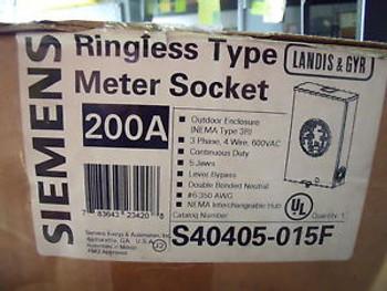 #527 Siemens/L&G S40405-015F Meter Socket 200 Amp