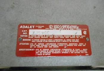 ADALET XJSWGC EXPLOSION PROOF ENCLOSURE