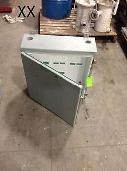 24 X 24 X 8 Single Door Hoffman Electrical Enclosure Wireway Wiring Box