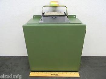 HOFFMAN A1212CH ELECTRICAL ENCLOSURE 12X12X6 ELECTRIC BOX TERMINAL CONNECTION 03