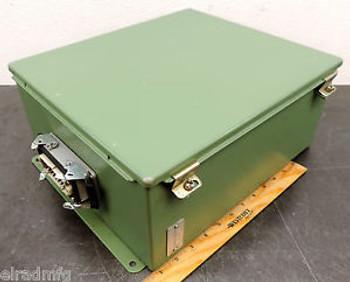 HOFFMAN A1412CH ELECTRICAL ENCLOSURE 14X12X6 ELECTRIC BOX TERMINAL CONNECTION 06