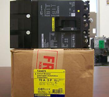 Square D - FA34070  Type FA - 3 Pole, 70Amps, 480V  I-Line  FREE SHIPPING