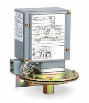 Square D 9012Gbw2 Pressure Switch, 20-675Psi, Adjustable, 4/4X/13