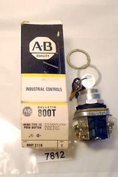 (7812) Allen Bradley Push Button Cylinder Lock 800T-E11B