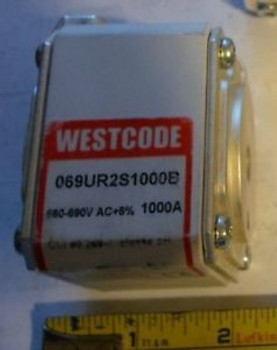 1000A Westcode Semiconductor Protection Fuse 660V-690V AC 1000 Amp Euro Style