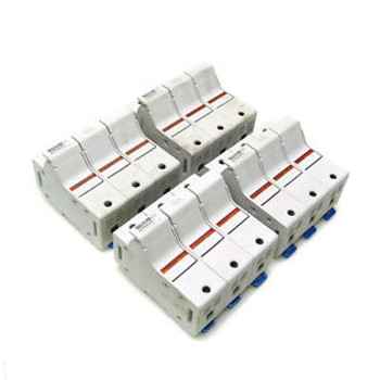 (4) Ferraz Shawmut US6J3I Ultrasafe 60A/600V Power Fuse Block Holders M211381