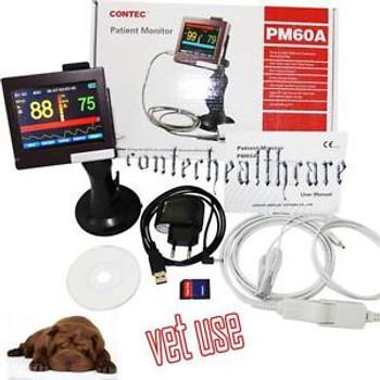 CE approve PM60A SPO2 PR veterinary Monitor 3.5''TFT Touch Screen