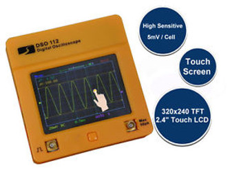 DSO112 Color Touch Screen Mini Digital Oscilloscope Pocket - 2Mhz