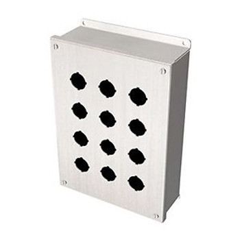 Pushbutton Enclosure, 12 Hole, 22Mm, 304 Ss