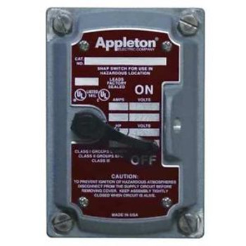 Appleton Electric Edsf24Wq Cover/Chamber/Switch ,4-Way,1Gang,20A