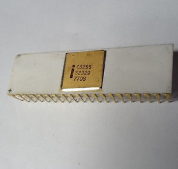 Rare Vintage Intel C8255 Gold Cap 40 Pns Chip