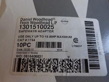 (10) NEW DANIEL WOODHEAD 1301510025 SAFEWAY ADAPTERS