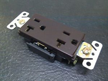 (100Pc) New Decorator Duplex Receptacles 20 Amp Brown Self Grounding 20A Outlets