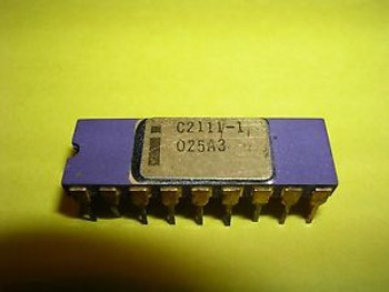 Intel C2111-1 (C2111) - 1,024-Bit (256 x 4) Static RAM - Extremely Rare