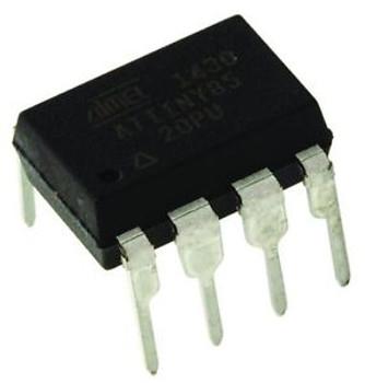 100 Atmel ATTINY85-20PU, 8-Pin, AVR 20MHz for Arduino ATtiny