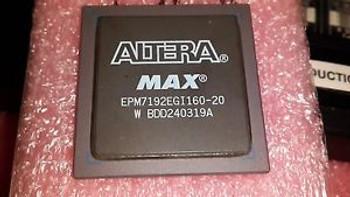 1x ALTERA EPM7192EGI160-20 , CPLD MAX 7000 Family 3.75K Gates 192 Macro Cells 62