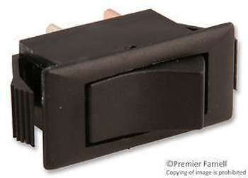Eaton 1501-11E Switch, Rocker, Spst, 15A, 250V, Black