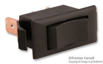 Eaton 1504-11E Switch, Rocker, Spdt, 15A, 250V, Black